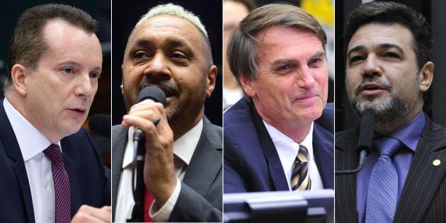 Celso Russomano (PRB-SP), Tiririca (PR-SP), Jair Bolsonaro (PSC-RJ) e Marco Feliciano (PSC-SP) foram os campeões de votos em 2014.