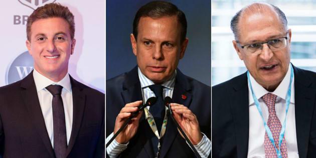 Apresentador Luciano Huck empata com prefeito de São Paulo, João Doria, e goverandor do estado, Geraldo Alckmin, diz Ibope.