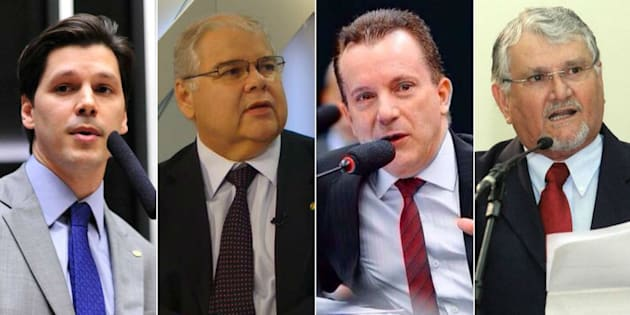 Deputados federais investigados na Operação Lava Jato e com intenção de disputar as eleições de 2018: Daniel Vilela (PMDB-GO), Lúcio Vieira Lima (PMDB-BA), Celso Russomano (PRB-SP) e Zeca do PT (PT-MS).