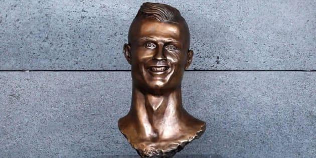 El primer busto de Cristiano Ronaldo de Emanuel Santos.