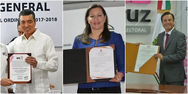 En Chiapas y Veracruz se coronó la coalición Morena-PT-PES, mientras que en Puebla ganó PAN-PRD-MC.