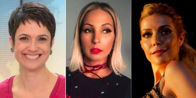 Sandra Annenberg, Valesca Popozuda e Luiza Possi: Em comum, todas têm pelo menos um caso de assédio para relatar.