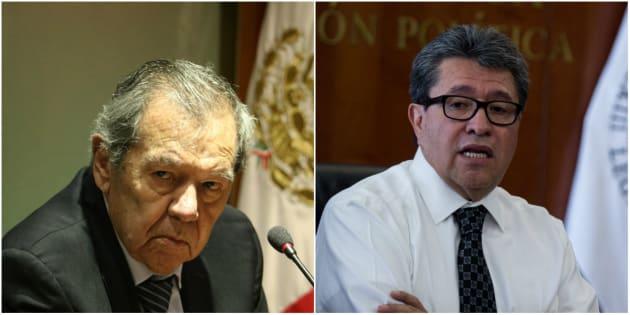 """Tanto el presidente de la Mesa Directiva de la Cámara de Diputados, Porfirio Muñoz Ledo, como el coordinador de Morena en el Senado, Ricardo Monreal, aseguraron que no están obligados a dar """"aportaciones voluntarias"""" para la consulta ciudadana que definirá el futuro del NAIM."""
