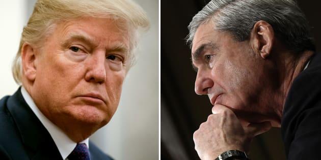 Le président Donald Trump et le procureur spécial Robert S. Mueller III.