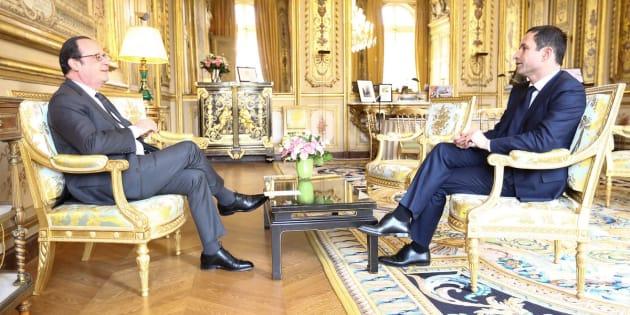 François Hollande a reçu Benoît Hamon à l'Elysée.