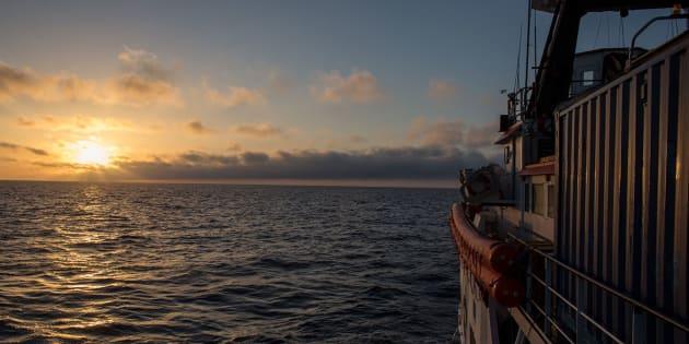 Immagine di archivio della missione MOAS 2017 nel Mediterraneo Centrale sospesa a fine Agosto