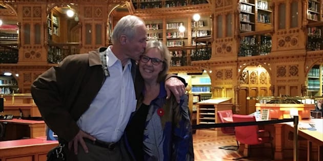 Elizabeth May and John Kidder are getting married next year.