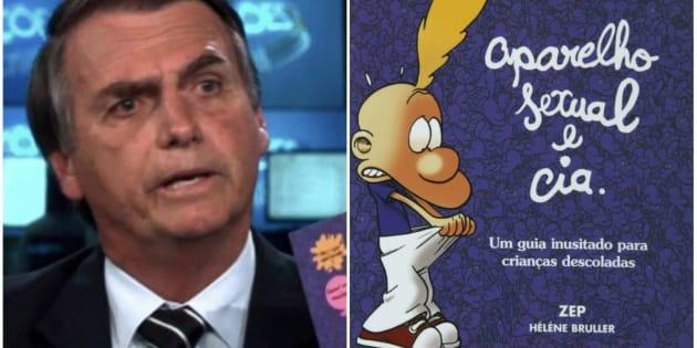 Em sabatina no Jornal Nacional, Jair Bolsonaro relacionou 'Aparelho Sexual e Cia' ao 'kit gay'.