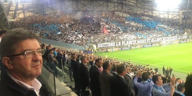 Marseille-Salzbourg: Mélenchon pour la première fois en tribune au Vélodrome.
