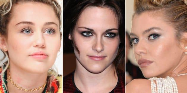 Miley Cyrus, Kirsten Stewart y Stella Maxwell.