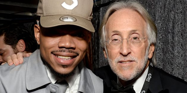 Recording artist Chance the Rapper and President/CEO of The Recording Academy and GRAMMY Foundation Neil Portnow attend The 59th GRAMMY Awards at Staples Center on February 12, 2017 in Los Angeles, California.