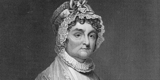 O rosto de Abigail Adams, uma mulher que não deixava homem algum lhe dar ordens.