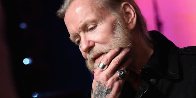 Gregg Allman speaks to the press on Dec. 11, 2015, in Nashville.