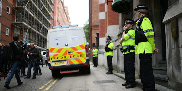 A controlled explosion was used to gain entry to a property in Manchester city centre on Wednesday