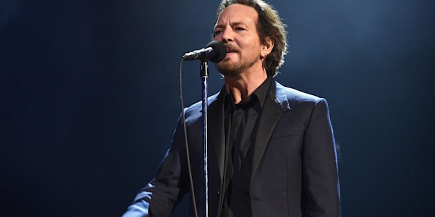 Eddie Vedder performs during the Rock and Roll Hall of Fame induction ceremony on April 29, 2017.