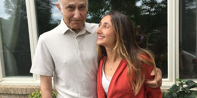 Mon père et moi cette année, le jour de son anniversaire.