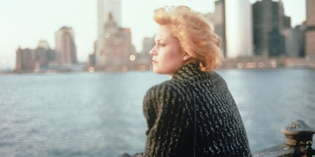 "Melanie Griffith on the set of ""Working Girl."""