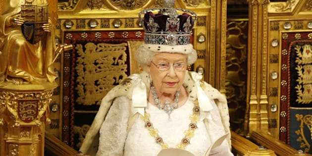 Queen Elizabeth II delivers the Queen's Speech during the State Opening of Parliament, in the House of Lords at the Palace of Westminster in London.