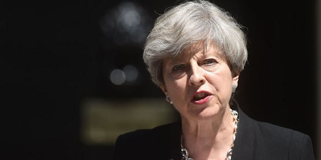 Prime Minister Theresa May speaking in Downing Street after a COBRA meeting following an incident in Finsbury Park, north London, where one man has died, eight people taken to hospital and a person arrested after a van struck pedestrians.
