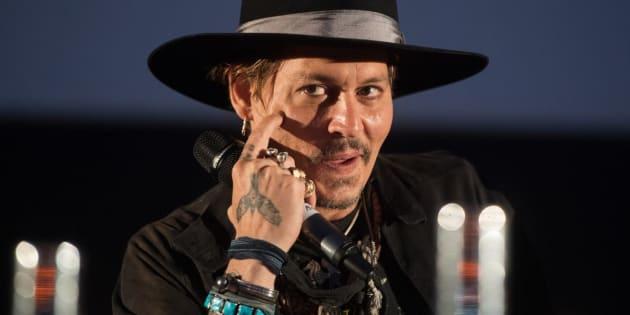 Johnny Depp en el pase de 'The Libertine' en Glastonbury, Inglaterra.