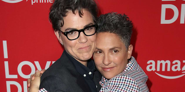 "Sarah Gubbins (esquerda) e Jill Soloway assistem à première de ""I Love Dick"", da Amazon, no cinema Linwood Dunn em Los Angeles, Califórnia, 20 de abril de 2017."