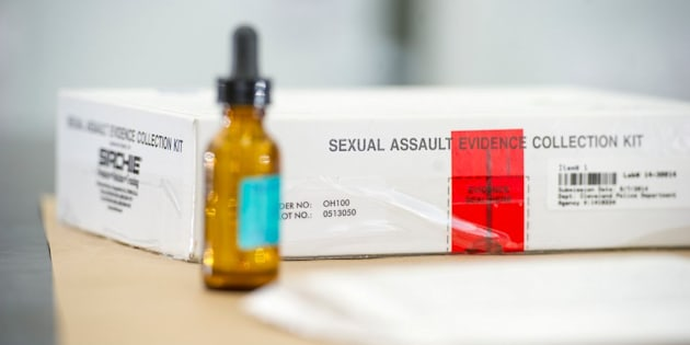 A sexual assault evidence collection kit fromthe Ohio Bureau of Criminal Investigation Laboratory.