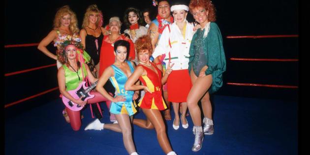 Parte do elenco original das Gorgeous Ladies of Wrestling.
