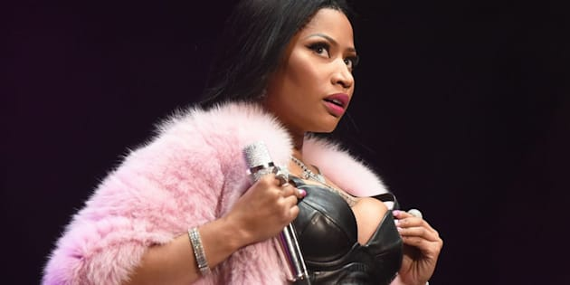 ATLANTA, GA - JUNE 17:  Nicki Minaj performs during a surprise appearance at the Hot 107.9 Birthday Bash at Philips Arena on June 17, 2017 in Atlanta, Georgia.  (Photo by Chris McKay/Getty Images)