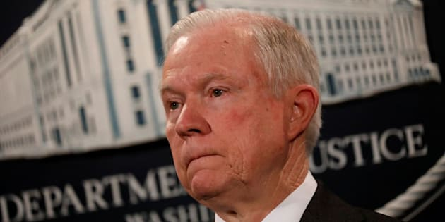 U.S. Attorney General Jeff Sessions looks during a press conference announcing the outcome of the national health care fraud takedown at the Justice Department in Washington, U.S., July 13, 2017. REUTERS/Aaron P. Bernstein