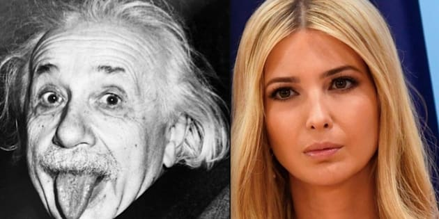 Albert Einstein and Ivanka Trump