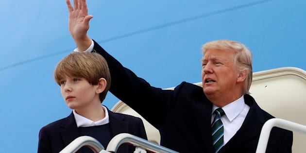 President Donald Trump and his son Barron. A series of books written in the late 19th century by Ingersoll Lockwood concerns a character named Baron Trump -- who finds a time portal in Russia thanks to a man named Don.