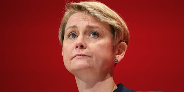 LIVERPOOL, ENGLAND - SEPTEMBER 28:  Yvette Cooper, Chair of the Labour Party Refugee taskforce, addresses delegates in the main hall on day four of the Labour Party conference, on September 28, 2016 in Liverpool, England. On the last day of the annual Labour party conference, leader Jeremy Corbyn will deliver his keynote speech to delegates and rally members with a call for unity in preparation for a possible snap election next year.  (Photo by Leon Neal/Getty Images)
