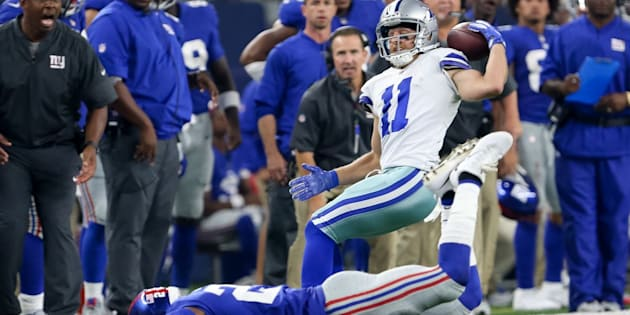 Cole Beasley made his sensational catch in the fourth quarter.