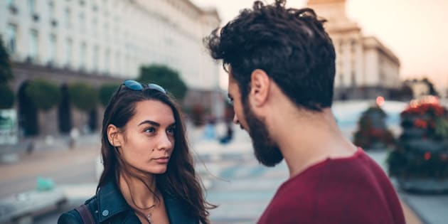 Disappointed woman from her boyfriend