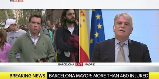 Alfonso Dastis appears on Sky News.