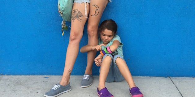 """Bria Vinaite and Brooklynn Prince star in """"The Florida Project."""""""
