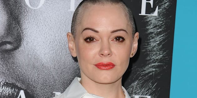 HOLLYWOOD, CALIFORNIA - MARCH 31:  Actress Rose McGowan attends the premiere of 'Confirmation' at Paramount Theater on the Paramount Studios lot on March 31, 2016 in Hollywood, California.  (Photo by Jason LaVeris/FilmMagic)
