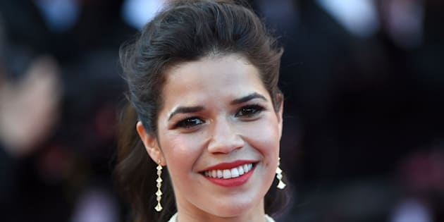 CANNES, FRANCE - MAY 16:  Actress America Ferrera attends the 'How To Train Your Dragon 2' premiere during the 67th Annual Cannes Film Festival on May 16, 2014 in Cannes, France.  (Photo by Gareth Cattermole/Getty Images)