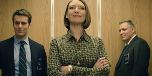 "Jonathan Groff, Anna Torv e Holt McCallany, de ""Mindhunter"", no Netflix."