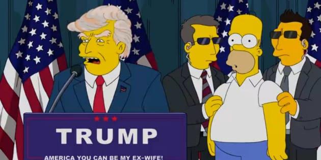 Una de las apariciones del presidente de EEUU, Donald Trump, en 'Los Simpsons'.