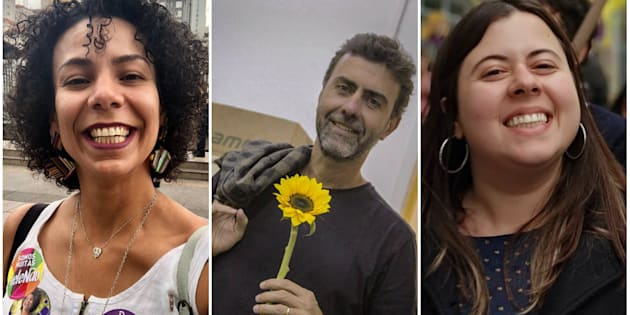Áurea Carolina, Marcelo Freixo e Sâmia Bomfim.