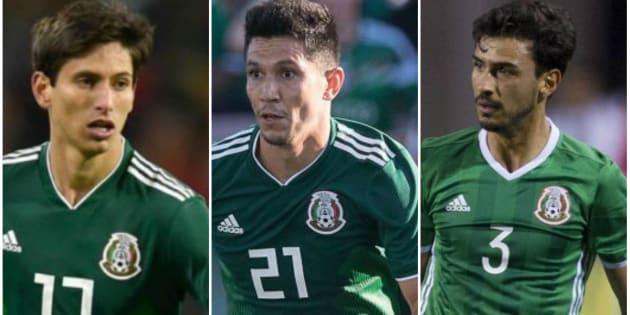 Jurgen Damm (izquierda), Jesús Molina (centro) y Oswaldo Alanís (derecha) se quedan fuera del Mundial de Rusia 2018.