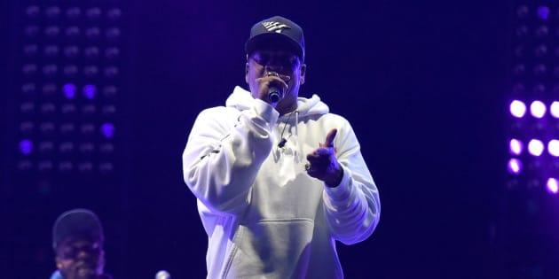 PHILADELPHIA, PA - SEPTEMBER 03:  Jay Z performing at Budweiser Made in America festival on September 3, 2017 in Philadelphia, Pennsylvania.  (Photo by Arik McArthur/FilmMagic)