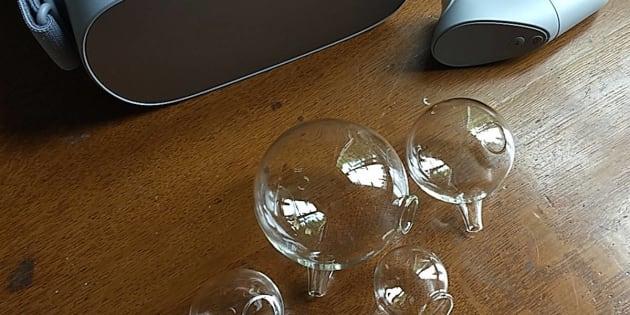 Oculus Goと私のヘルムホルツ共鳴器たち(日本スリービー・サイエンティフィック株式会社の製品)