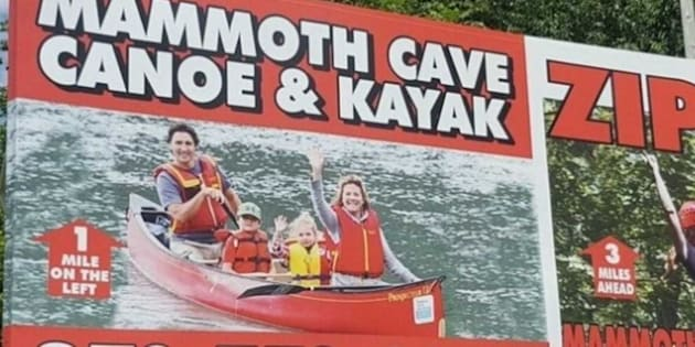 Trudeau Family Pic Discovered On Giant Kentucky Billboard