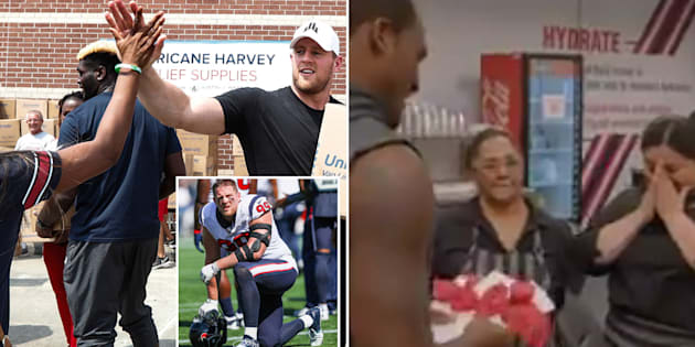 JJ Watt (left) and Deshaun Watson (right) have taken an active role in getting Houston flood victims back on their feet.