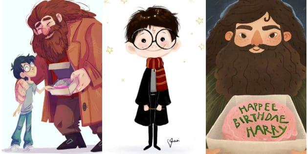 Fãs ao redor do mundo compartilharam ilustrações para celebrar o aniversário do personagem de J.K. Rowling.