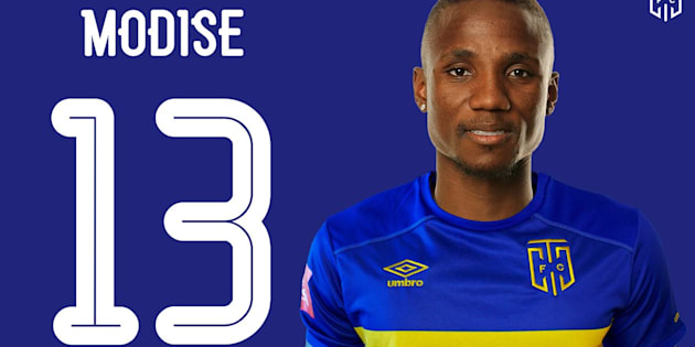Cape City FC new signing Teko Modise will wear jersey #13.