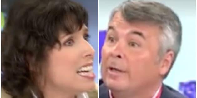 Marta Nebot y Agustín Martínez en 'El Programa de AR' de Telecinco.