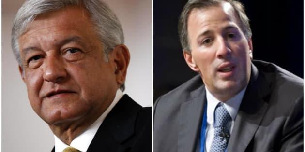 Los candidatos presidenciales Andrés Manuel López Obrador (izquierda) y José Antonio Meade (derecha).